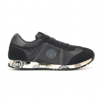 Ανδρικά μαύρα αθλητικά παπούτσια Marshall it291117-36 2