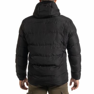 Ανδρικό μαύρο χειμωνιάτικο μπουφάν Bread & Buttons it301020-10 4
