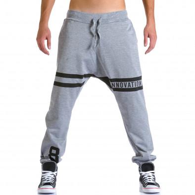 Ανδρικό γκρι παντελόνι jogger Eadae Wear ca260815-29 2