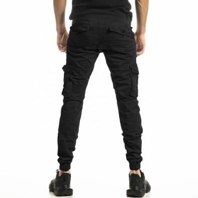 Ανδρικό μαύρο παντελόνι Cargo Jogger tr161220-22 3