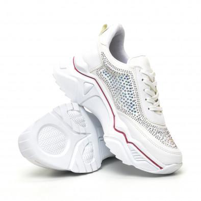 Γυναικεία λευκά sneakers Seribo tr180320-16 4
