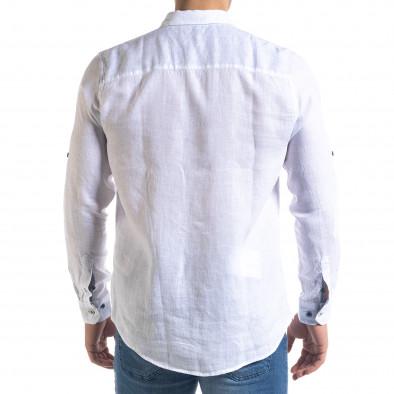 Ανδρικό λευκό πουκάμισο RNT23 tr110320-94 4
