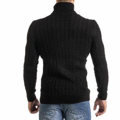 Ανδρικό μαύρο πουλόβερ Lagos it301020-23 3