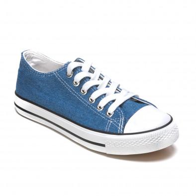 Ανδρικά γαλάζια sneakers Dilen it170315-7 3