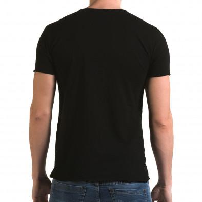 Ανδρική μαύρη κοντομάνικη μπλούζα FM it090216-78 3