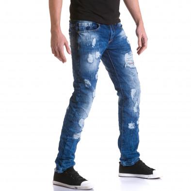 Ανδρικό γαλάζιο τζιν Justing it031215-6 4