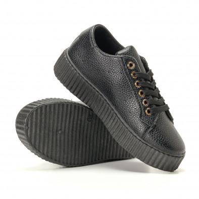 Γυναικεία μαύρα sneakers Ideal Shoes it200917-57 4