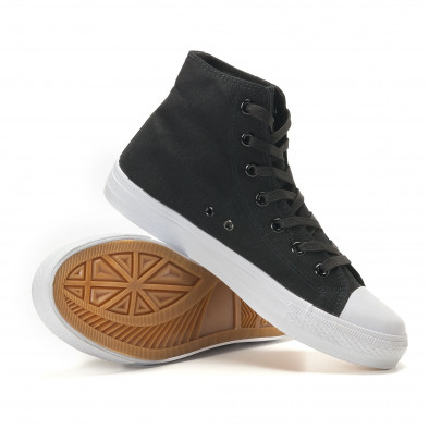 Ανδρικά μαύρα sneakers Bella Comoda it260117-53 5