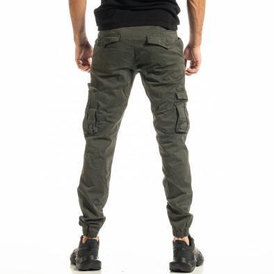 Ανδρικό πράσινο παντελόνι cargo Jogger tr300920-4 3