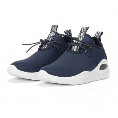 Ανδρικά μπλε αθλητικά παπούτσια νεοπρένιο ύφασμα  it160318-31 3