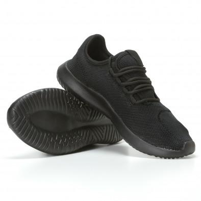 Ανδρικά μαύρα αθλητικά παπούτσια Kiss GoGo it110817-70 4