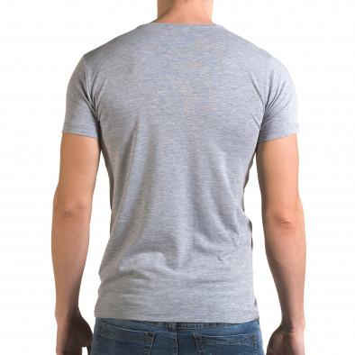 Ανδρική γκρι κοντομάνικη μπλούζα Lagos il120216-12 3