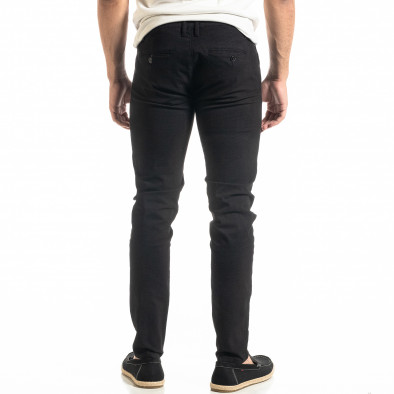 Ανδρικό μαύρο παντελόνι Slim fit Chino it020920-20 3