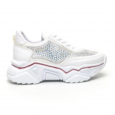 Γυναικεία λευκά sneakers Seribo tr180320-16 3