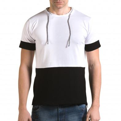 Ανδρική λευκή κοντομάνικη μπλούζα Man it090216-70 2