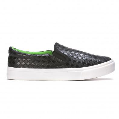 Ανδρικά μαύρα sneakers Niweile It050216-9 2