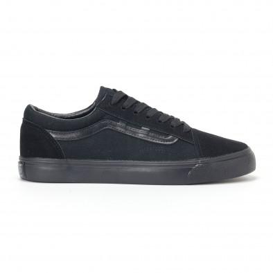 Ανδρικά μαύρα υφασμάτινα sneakers Old Skool it160318-25 2