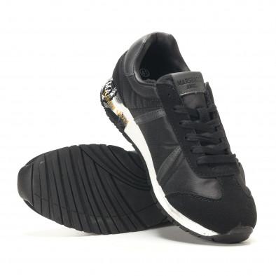 Ανδρικά μαύρα αθλητικά παπούτσια Marshall it291117-36 4