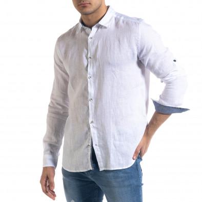 Ανδρικό λευκό πουκάμισο RNT23 tr110320-94 2