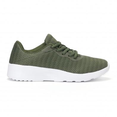 Ανδρικά πράσινα διχτυωτά αθλητικά παπούτσια  it160318-36 2