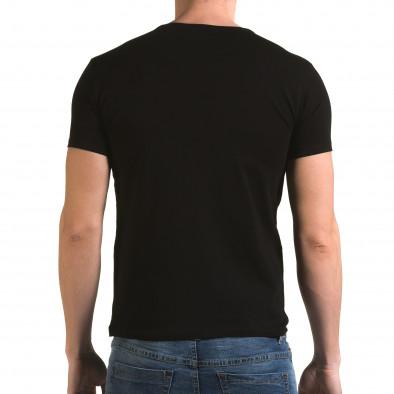 Ανδρική μαύρη κοντομάνικη μπλούζα Lagos il120216-11 3