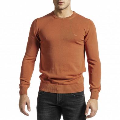 Ανδρικό πορτοκαλί πουλόβερ Code Casual tr231220-3 2