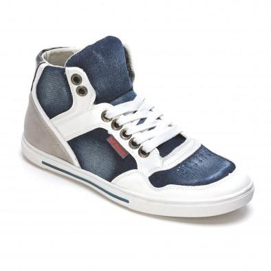 Ανδρικά γαλάζια sneakers Staka It050216-16 3