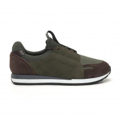 Ανδρικά πράσινα αθλητικά παπούτσια FM tr180320-32 3