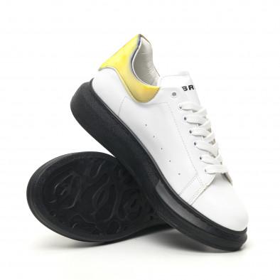 Ανδρικά λευκά sneakers με χοντρή σόλα tr180320-35 4