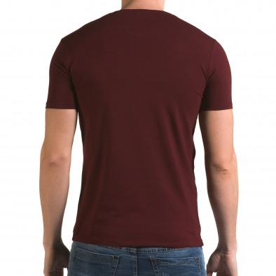 Ανδρική κόκκινη κοντομάνικη μπλούζα Lagos il120216-45 3