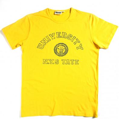Ανδρική κίτρινη κοντομάνικη μπλούζα Marcus 070213-1 2