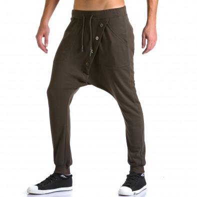 Ανδρικό καφέ παντελόνι jogger Devil Slayer ca260815-25 4