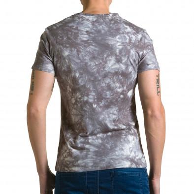 Ανδρική γκρι κοντομάνικη μπλούζα P2P ca190116-45 3