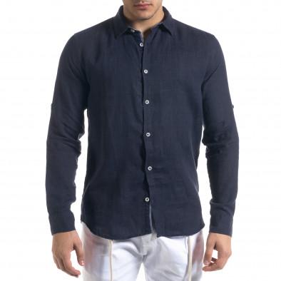 Ανδρικό μπλε πουκάμισο RNT23 tr110320-93 3