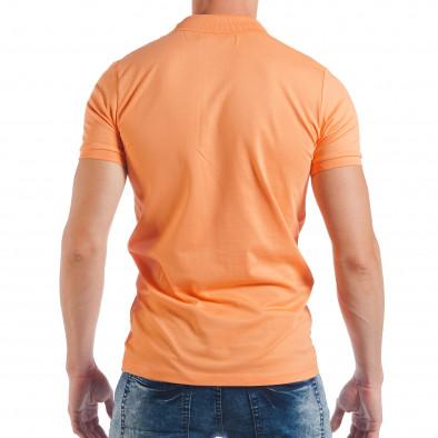 Ανδρική κοντομάνικη πόλο σε πορτοκαλί χρώμα tsf250518-38 3