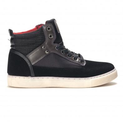 Ανδρικά μαύρα sneakers Reeca it100915-22 2