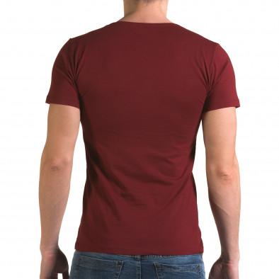 Ανδρική κόκκινη κοντομάνικη μπλούζα Lagos il120216-27 3