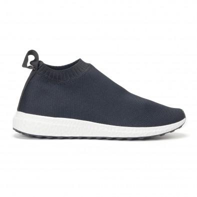 Ανδρικά μαύρα αθλητικά παπούτσια slip-on κάλτσα it160318-37 2