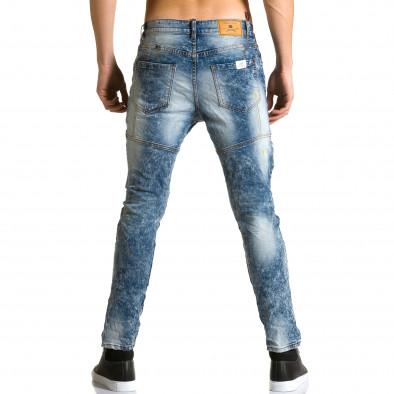 Ανδρικό γαλάζιο τζιν Justing ca190116-5 3
