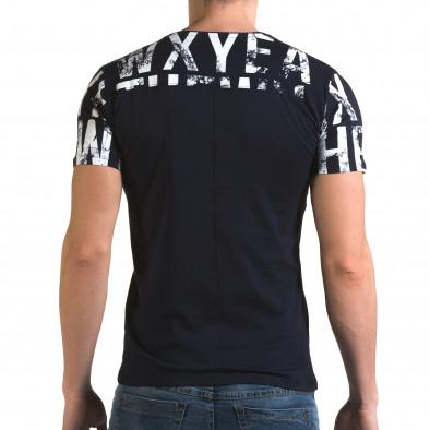 Ανδρική γαλάζια κοντομάνικη μπλούζα Lagos il120216-35 3