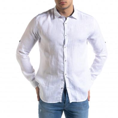 Ανδρικό λευκό πουκάμισο RNT23 tr110320-94 3