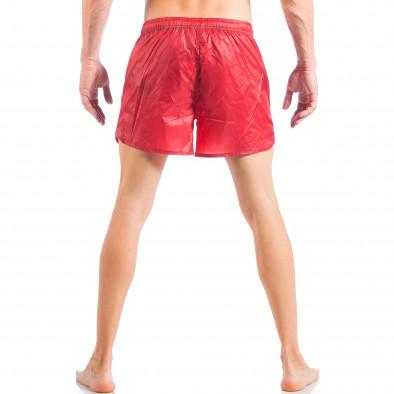 Ανδρικό κόκκινο μαγιό απλό μοντέλο it050618-66 4