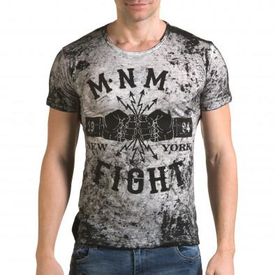 Ανδρική γκρι κοντομάνικη μπλούζα Lagos il120216-10 2