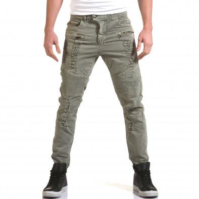 Ανδρικό γκρι παντελόνι Maximal it090216-8 2