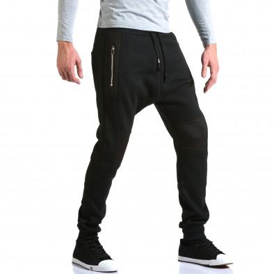 Ανδρικό μαύρο παντελόνι jogger New Star it211015-57 4