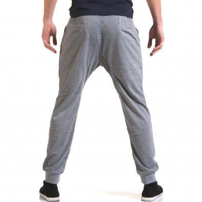 Ανδρικό γκρι παντελόνι jogger Dress&GO it090216-38 3