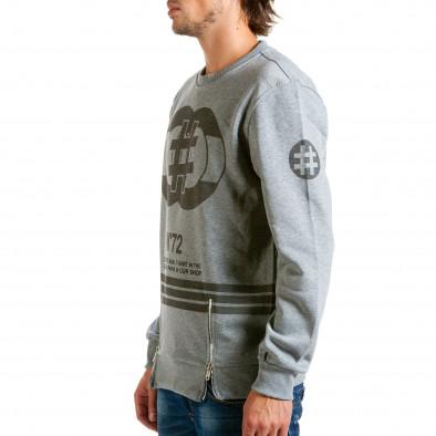 Ανδρική γκρι μπλούζα Aosen hn240815-54 4