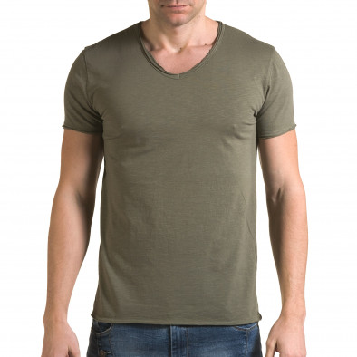 Ανδρική πράσινη κοντομάνικη μπλούζα FM it090216-76 2