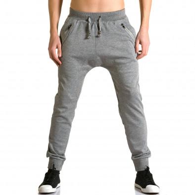 Ανδρικό γκρι παντελόνι jogger Furia Rossa ca190116-17 2