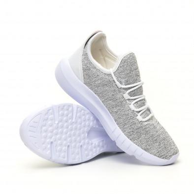 Ανδρικά λευκά μελάνζ αθλητικά παπούτσια ελαφρύ μοντέλο it041119-3 4